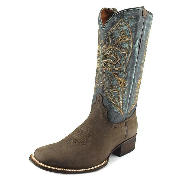 American Rebel Boot Company Naomi Cross Women Pointed Toe Leather Western Boot