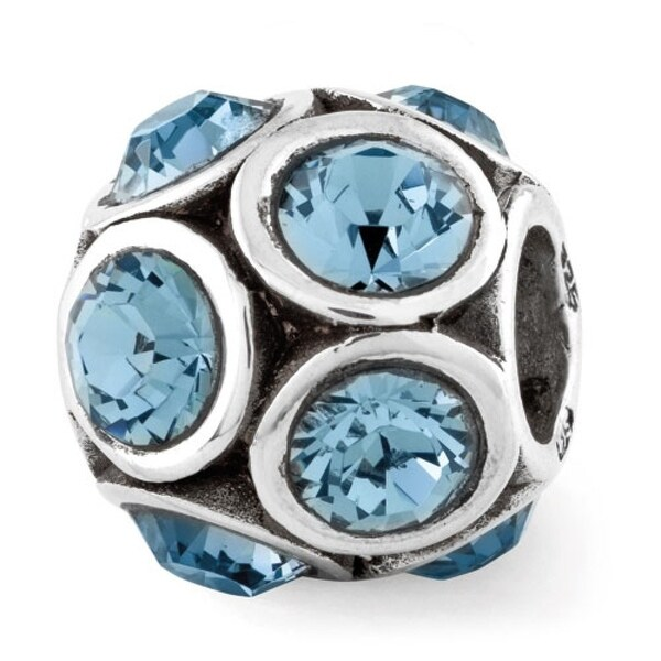 Sterling Silver Reflections December Swarovski Elements Bead (4mm Diameter Hole)