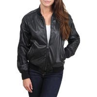 Nanette Lepore Womens Bomber Jacket Faux Leather Fashion