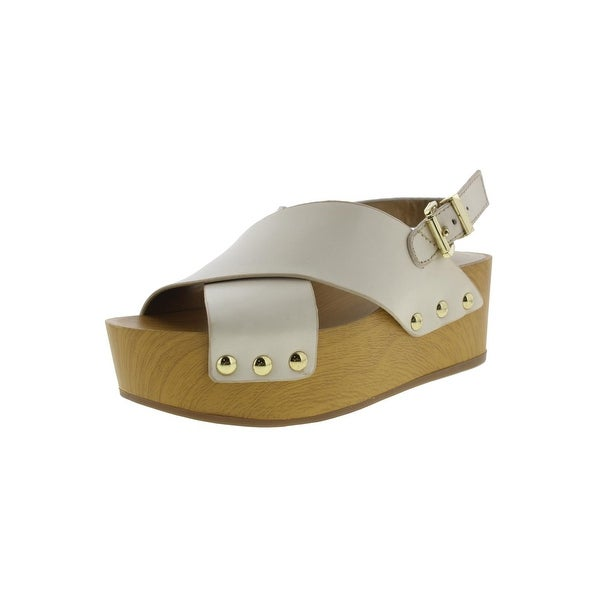 d25a9a1490d Sam Edelman Womens Bentlee Platform Sandals Leather Criss-Cross - 10 medium  (b