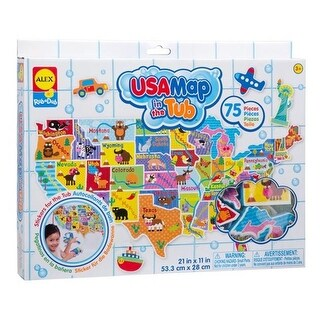 Alex Brands 0A890M Rub a Dub USA Map in the Tub