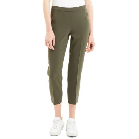 Theory Womens Basic Pull On Pant Cl, Green Slate