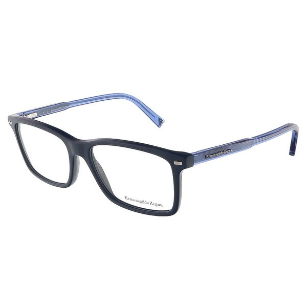 Ermenegildo Zegna EZ5008/V 090 Shiny Blue Rectangular Opticals - 54-16-145