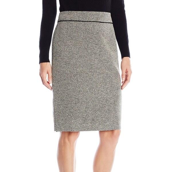 911e514541 Kasper NEW Cream White Ivory Black Womens Size 16 Straight Pencil Skirt