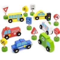 Brybelly TVEH-605 Busy City Vehicles & Signs