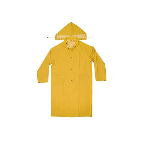 CLC R1052X Heavyweight PVC Trench Coat, Yellow, 2XL, 2 Piece
