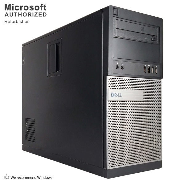 Dell OptiPlex 790 Computer Tower Intel Core I5 2400 3.1G 8GB DDR3 1TB Windows 10 Pro 1 Year Warranty (Refurbished) - black
