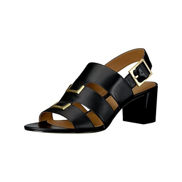 Calvin Klein Womens Neda Dress Sandals Leather Slingback