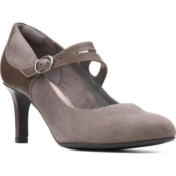 be984df23ade Clarks Women  x27 s Dancer Reece Mary Jane Grey Suede Leather Combination