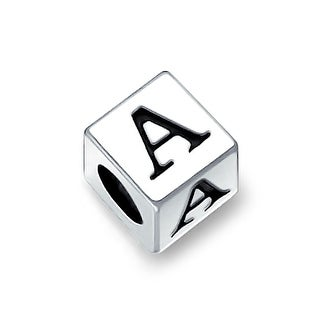 Bling Jewelry 925 Sterling Silver Block Letter Charm Bead