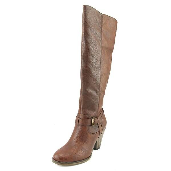Mia Taryn Women Round Toe Synthetic Brown Knee High Boot