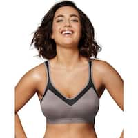 Playtex 18 Hour Active Lifestyle Wirefree Bra - Size - 36D - Color - Excalibur/Black