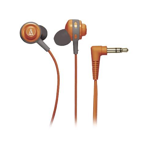 Audio-Technica Core Bass In-Ear Headphones (Orange)