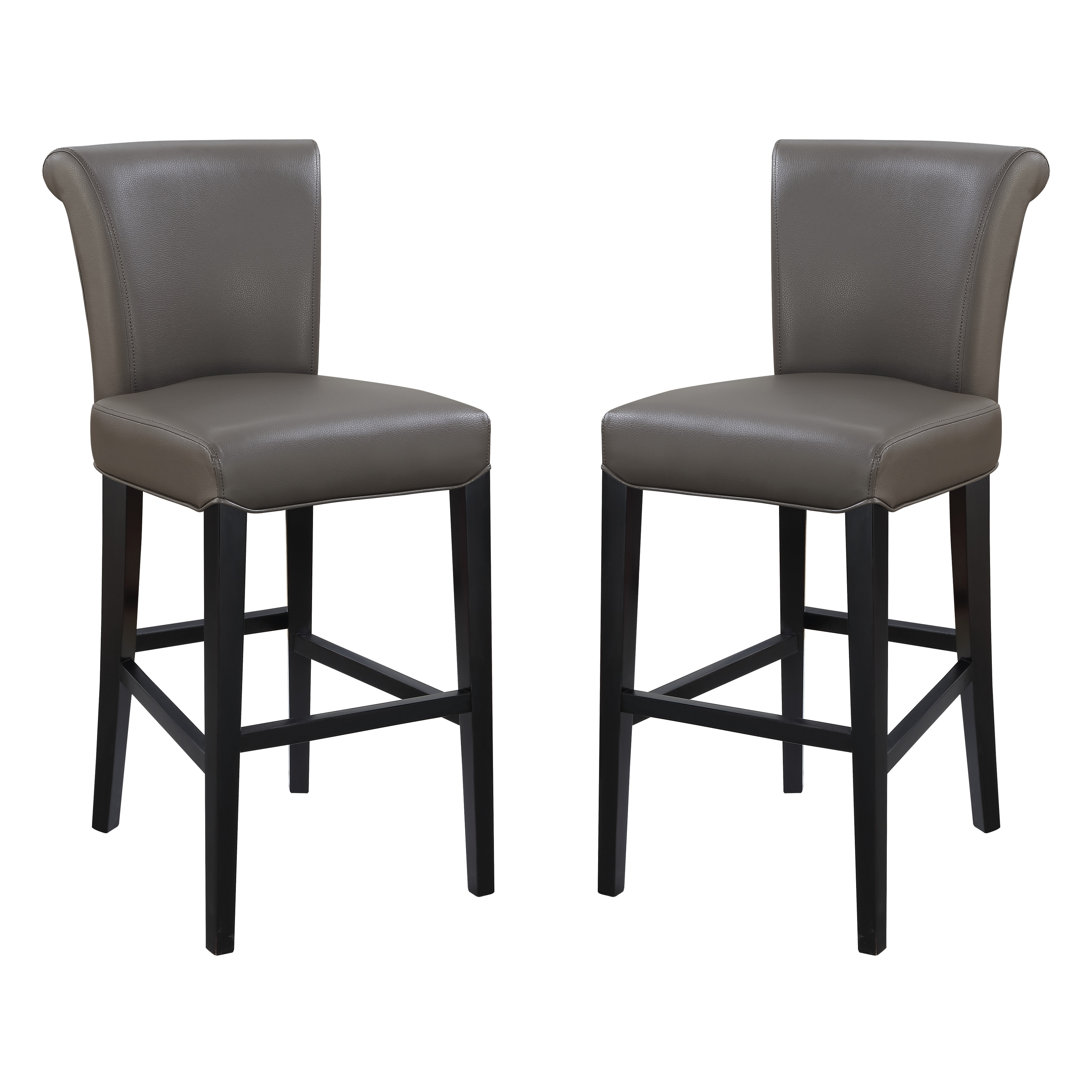 Copper Grove Fenua 30 Inch Faux Leather Curved Back Bar Stools Set Of 2 On Sale Overstock 20351578