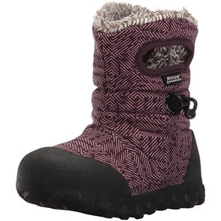 Bogs Girls B-Moc Dash Puff Printed Lined Winter Boots