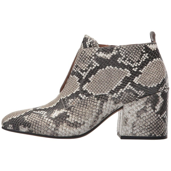 Franco Sarto Womens Alfie2 Leather Almond Toe Ankle Fashion Boots