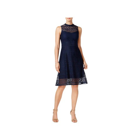 Jessica Simpson Womens Party Dress Halter Knee-Length