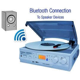 Boytone BT-37WT-C, Limited Edition Turntable Connect Wirelessly to Bluetooth Speaker Devices 3-speed Stereo, 2 built in Speakers
