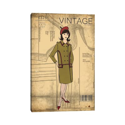 """iCanvas """"Vintage Sewing II"""" by Front Porch Pickins Canvas Print"""