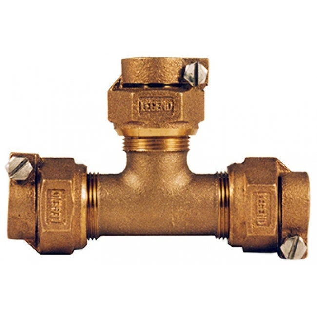 Legend Valve 313-394NL No Lead Water Service Tee, 3/4, CTS x PK