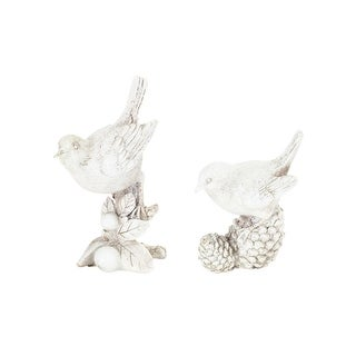 Pack of 4 Vintage White Bird Table Top Christmas Figurines 5.75