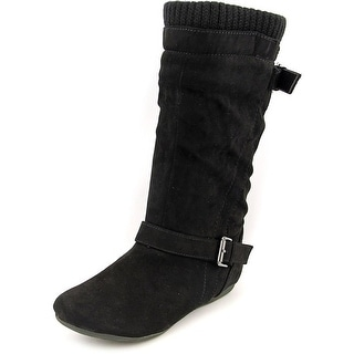 Report Everton Round Toe Synthetic Mid Calf Boot
