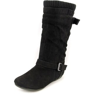 Report Everton Women Round Toe Synthetic Black Mid Calf Boot