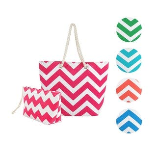 Swan Comfort Striped Canvas Chevron Shoulder Beach Tote Bag with Pouch - Medium|https://ak1.ostkcdn.com/images/products/is/images/direct/75d620da0f3028e8a0439f21a3d1412a6420b672/Eshma-Mardini-Striped-Canvas-Chevron-Shoulder-Beach-Tote-Bag-with-Pouch.jpg?impolicy=medium