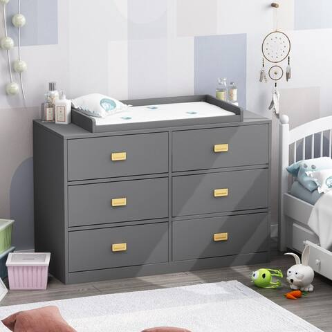 5-drawer Dresser Change Table With Large Storage Space