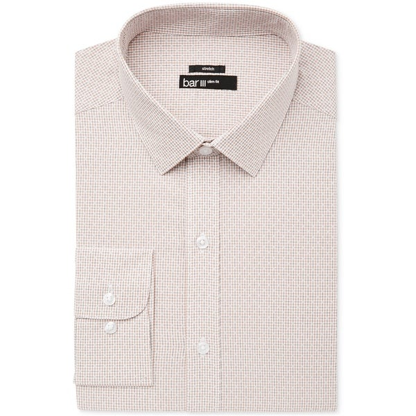 Bar Iii Mens Windowpane Button Up Dress Shirt. Opens flyout.