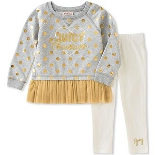 Juicy Couture Girls 2T-4T French Terry Legging Set