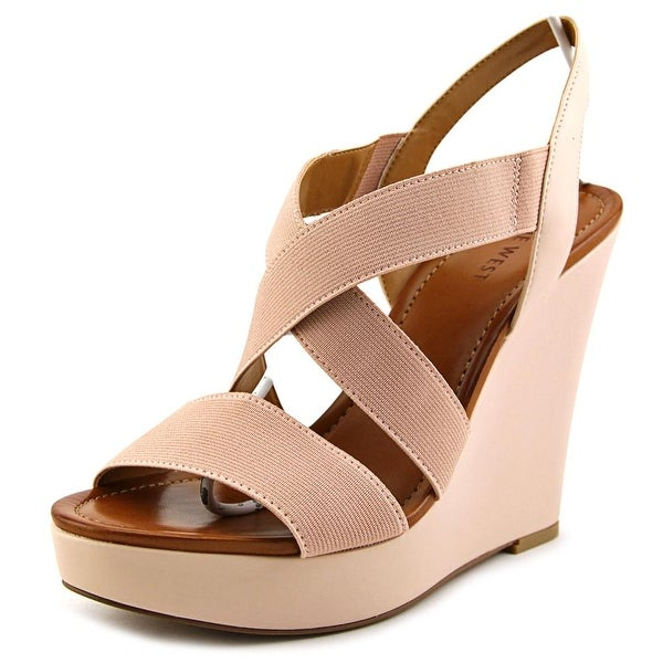 1ccfee2a46de Shop Nine West Lorette Women Open Toe Canvas Nude Wedge Sandal ...