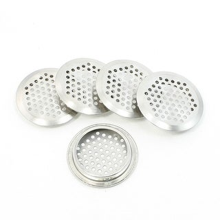 5 Pcs Home Hardware 53mm Bottom Dia Round Mesh Holes Air Vent Louvers