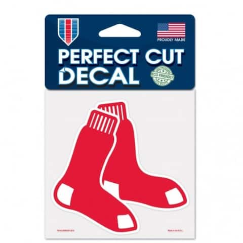 Boston Red Sox Decal 4x4 Perfect Cut Color