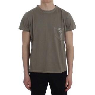 Ermanno Scervino Green Kaki Cotton Crewneck T-shirt - it48-m