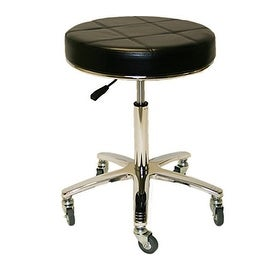 LCL Beauty Tall Height Deluxe Air-Lift Technician Stool with Welded Steel Base (500 lb. Capacity)