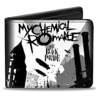 My Chemical Romance The Black Parade Blimps City Grays Black Bi Fold Wallet One Size - One Size Fits most