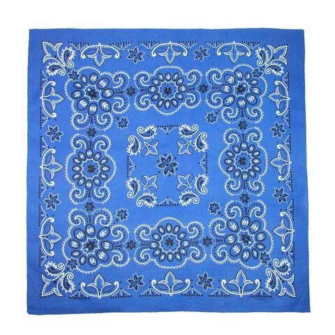 CTM® 27 Inch Extra Large Cotton Paisley Bandana (Pack of 6) - one size