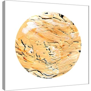 "PTM Images 9-101114  PTM Canvas Collection 12"" x 12"" - ""Painterly Circle on White H"" Giclee Abstract Art Print on Canvas"