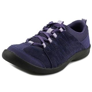 Easy Spirit Skinsbury Round Toe Suede Sneakers