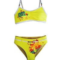 fd3db6ff83b43 High School Musical Little Girls Yellow Two Piece Bikini Swimsuit 4-6X