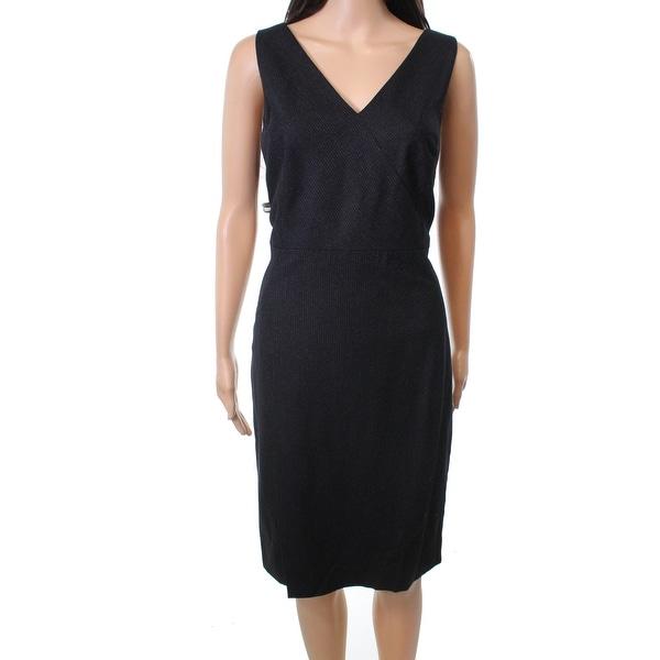 Classiques Entier Women's Pinstripe Sheath Dress Wool