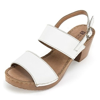 White Mountain Womens Motor Leather Open Toe Casual Ankle Strap Blue Size 90
