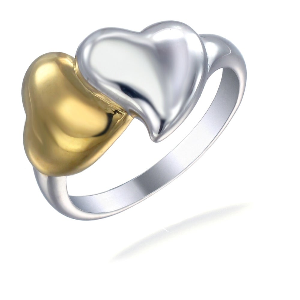Sterling Silver Hearts Ring