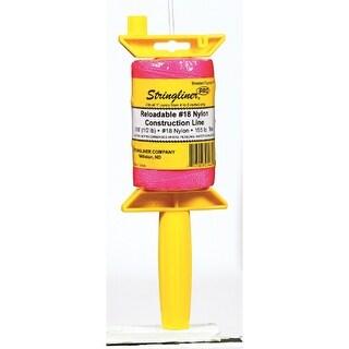Stringliner 25462 Pro Reloadable Reel, 500', Pink