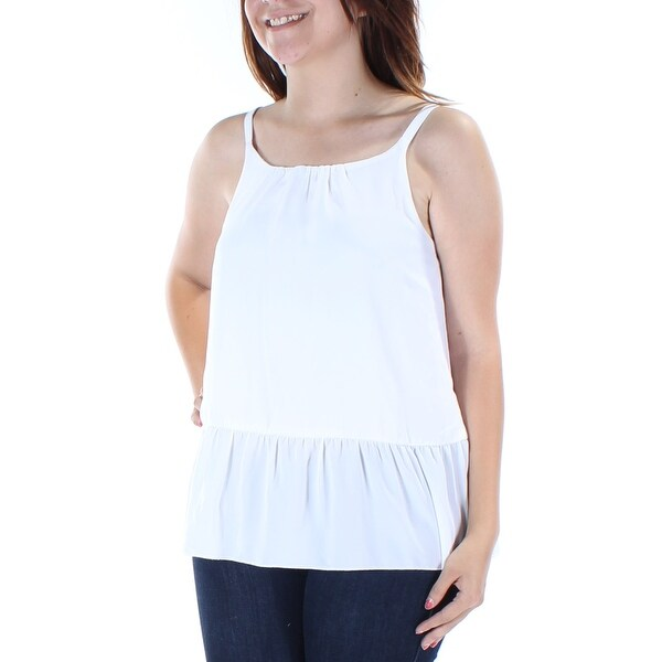 5aa47dc693067f Shop Womens White Sleeveless Jewel Neck Peplum Top Size S - On Sale - Free  Shipping On Orders Over  45 - Overstock.com - 21311299