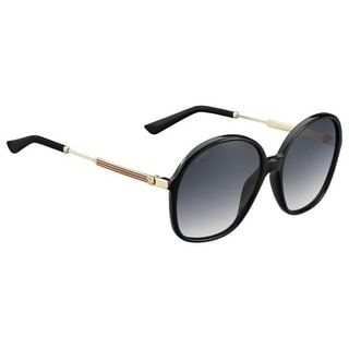 Gucci Womens Round Sunglasses UV Protection Oversized - shiny black/gold - o/s