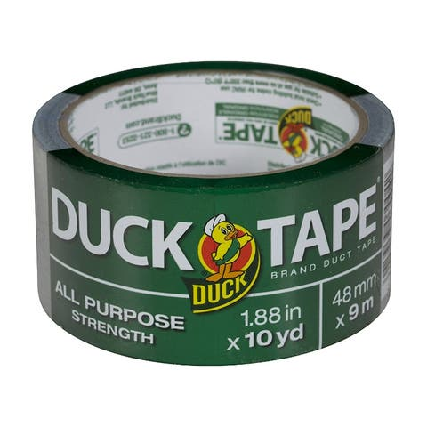 """Duck 761288 All Purpose Strength Duct Tape, Silver, 1.88"""" x 10 Yd"""