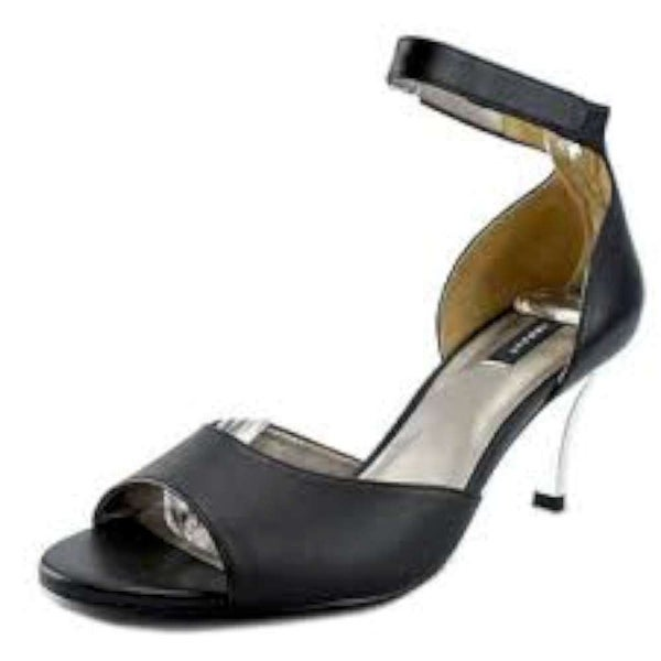 ARRAY Womens Chloe Leather Open Toe Casual Ankle Strap Sandals - 10