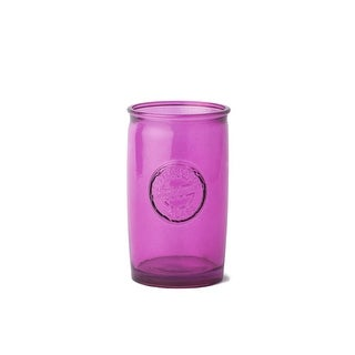 WS Bath Collections Saon 44016 Glass Toothbrush Holder from the Saon Collection - Pink